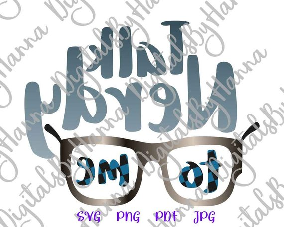 talk nerdy to me svg tee hand lettering clipart arts mirror reversed