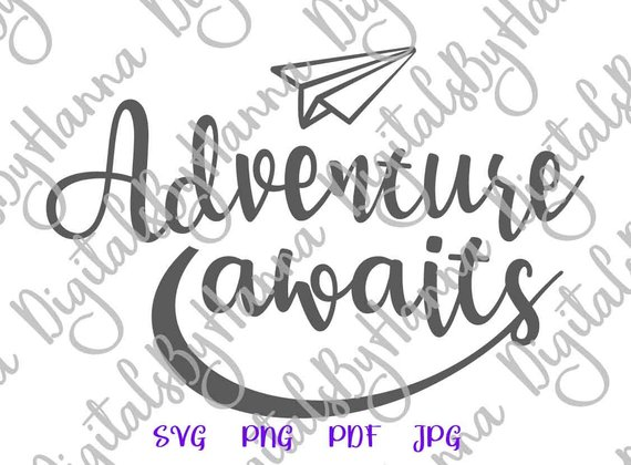 wanderlust svg saying adventure awaits encouraging shirt going away gift