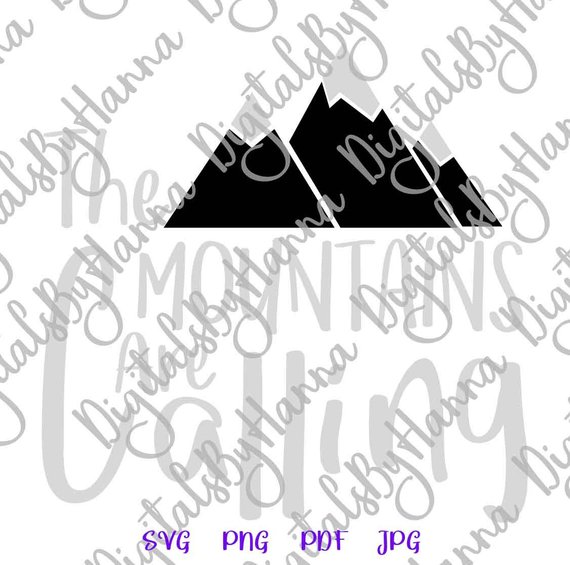 wanderlust svg saying the mountains are calling travel hiking climbing alpinism