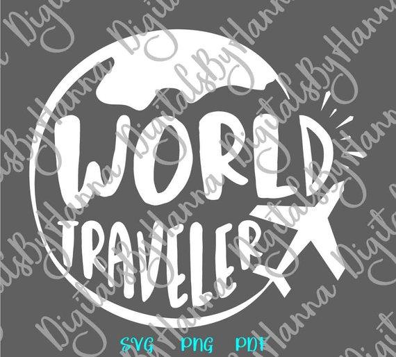 wanderlust svg world traveler word tshirt globe plane clipart gift print