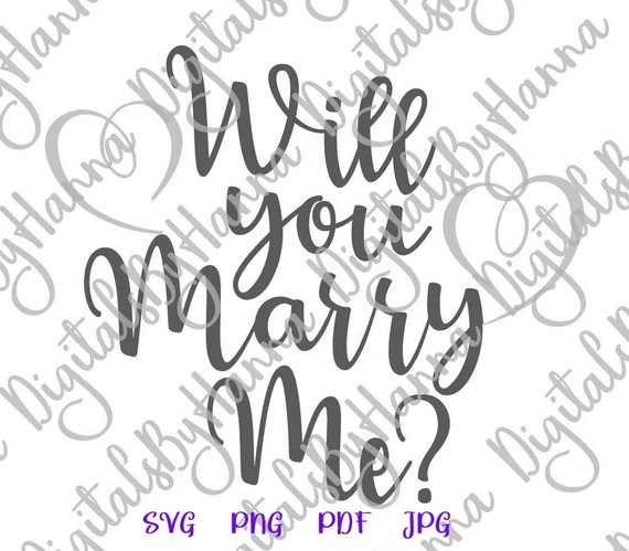 will you marry me svg marriage proposal hand lettering vector clipart