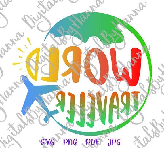 world traveler svg lettering word clipart visual arts mirror reversed