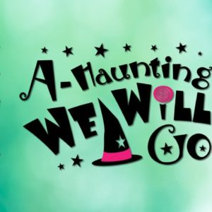 A Haunting We Will Go SVG Witch Hat Sign Lettering Print Decoration Silhouette Cut