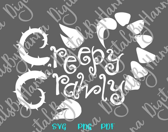 halloween svg creepy crawly monster party print decoration