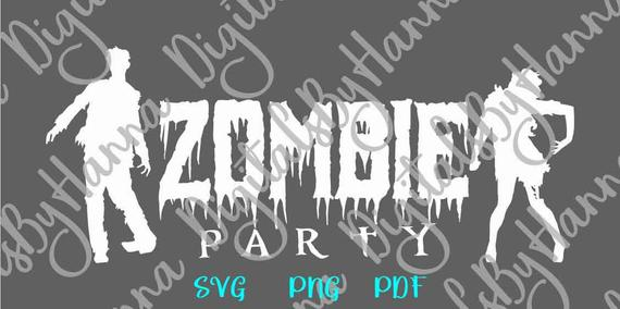 halloween svg file for cricut zombie party sign invitation print decoration