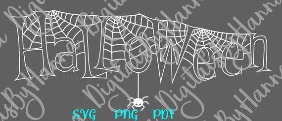 happy halloween spider web svg clipart print decoration tee tshirt cut sign