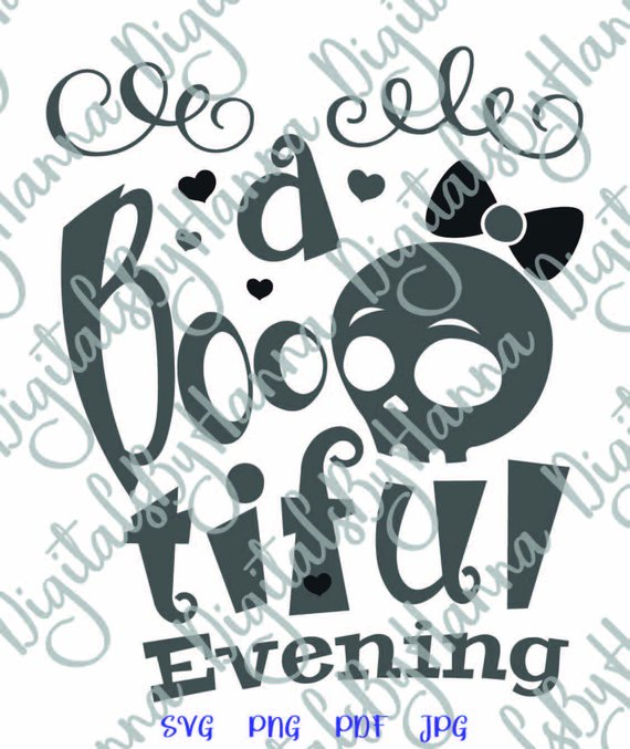 happy halloween svg file for cricut saying a boo tiful evening skull girl bow