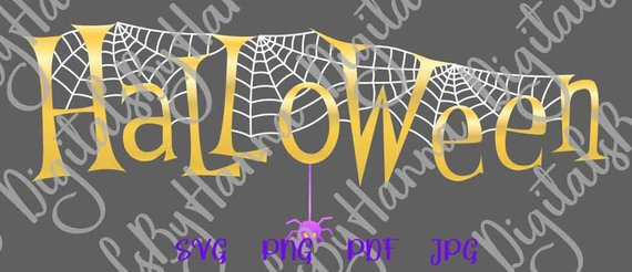 happy halloween svg file for cricut spider web clipart decoration tee tshirt