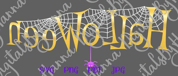 happy halloween svg file for cricut spider web clipart lettering cut sign