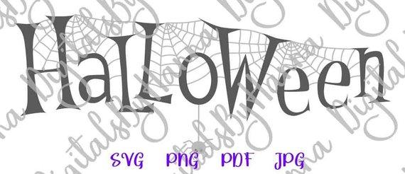 happy halloween svg file for cricut spider web vector clipart print decoration