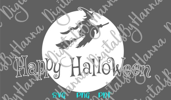 happy halloween svg moon clipart wording gift decoration sign