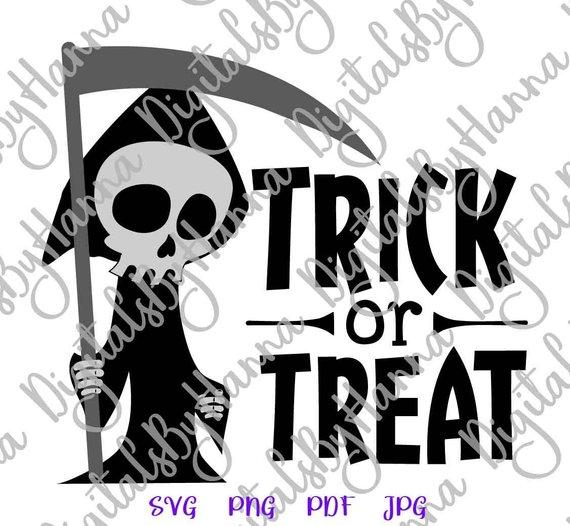 happy halloween svg trick or treat clipart skeleton print decoration
