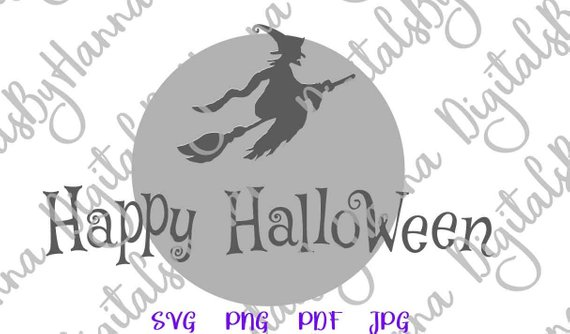happy halloween svg witch clipart lettering greeting invitation print