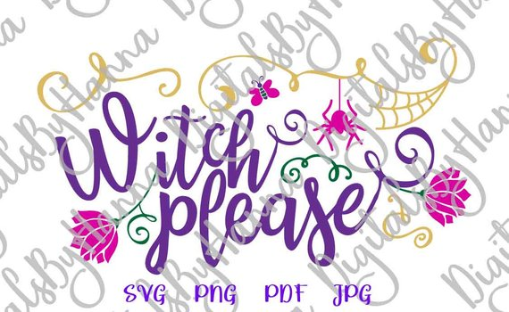 happy halloween svg witch please invite word print decoration sign