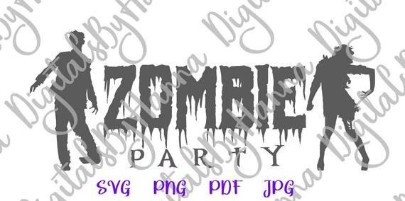 happy halloween svg zombie party invitation clipart print tshirt laser cut