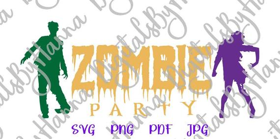 happy halloween svg zombie party sign lettering word print laser cut