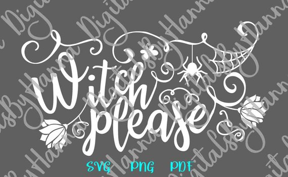 witch please svg happy halloween spider web clipart invite word print