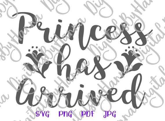 Baby Girl Onesie SVG Princess Has Arrived SVG New Baby Outfit Clothes Print