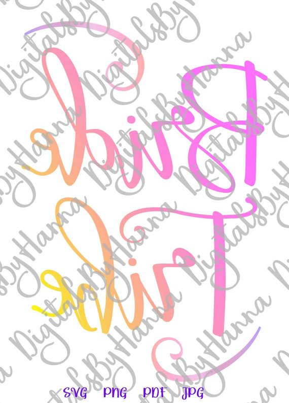 Bachelorette SVG Files Bride Tribe Team Bride Squad Sign Word Print Wedding Bridal