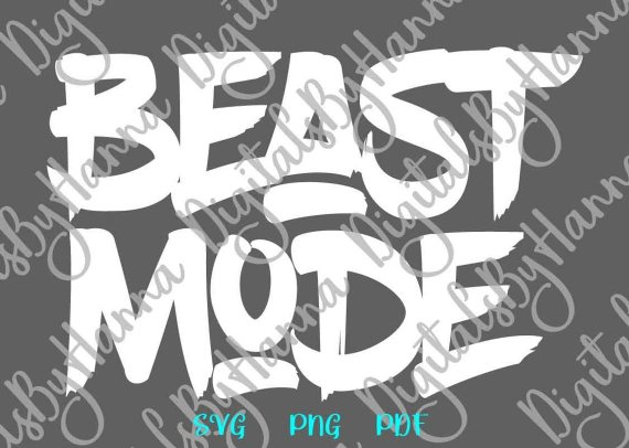 Beast Mode Shirt SVG Funny Quote Sign Run Weight Loss Gym Fitness