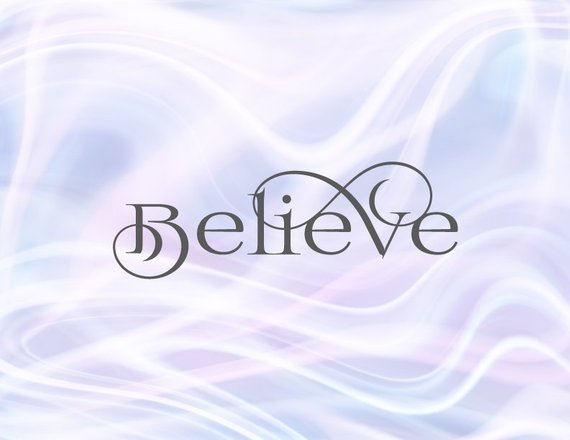 SVG Files for Cricut Saying Believe Sign Faith SVG Tee tShirt Lettering Calligraphy