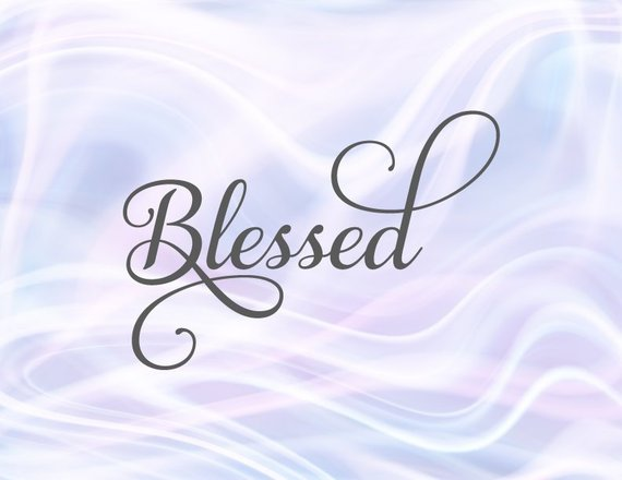 Blessed SVG Files for Cricut Blessing T-Shirt Tee Hand Lettering Calligraphy Print