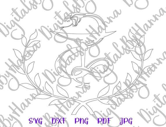 Bowl of Hygieia Medecine Pharmacy Emblem Medical Silhouette