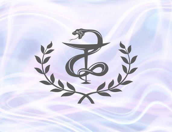 Bowl of Hygieia Medecine Pharmacist Gift Pharmacy Emblem Medical Clipart Snake Print