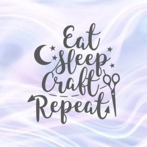 Crafty Girl Eat Sleep Craft Repeat Svg Room Decor Sign Word Print Cut Project Bag