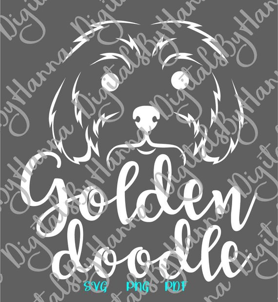Golden Doodle SVG Face Labradoodle Lover Clipart Word Print Sign Tee tShirt