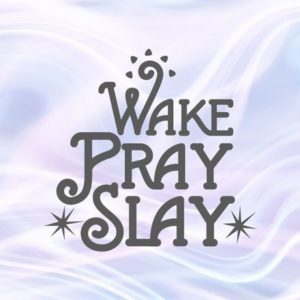 Wake Pray Slay SVG Motivational Quote Saying Prayer Word Sign Print Silhouette Cut
