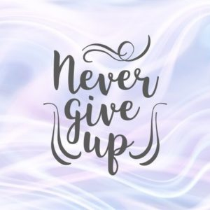 Never Give Up Svg Encouraging Quote Hand Lettering Word Print Silhouette Cut Use