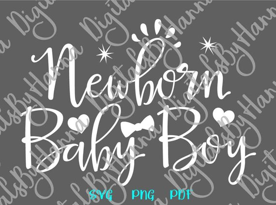 New Baby SVG Coming Take Home Outfit Onesie Clothes Shower Sign Word Lettering Print