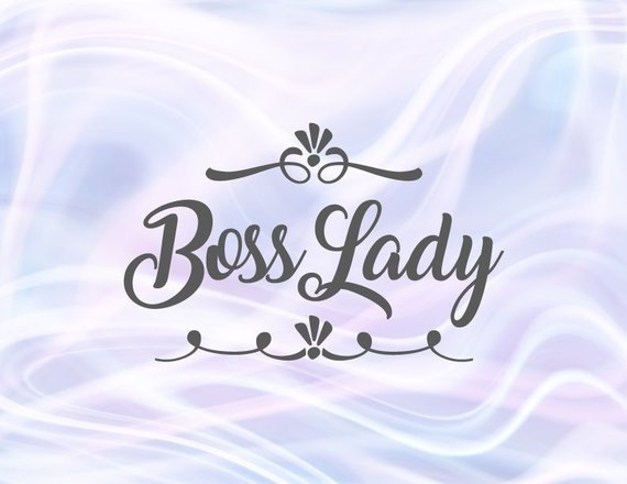 Boss Lady SVG Work Girl Office Woman Mug Tumbler tShirt Tee Word Sign Coworker Gift