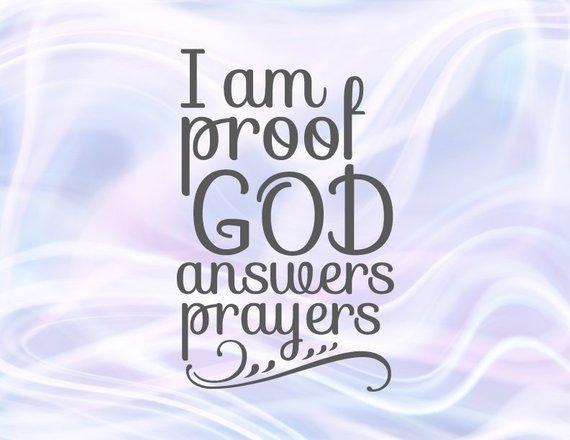 Rainbow Baby Onesie Svg Saying I Am Proof God Answers Prayers Newborn Clothes Print Svg Files For Cricut