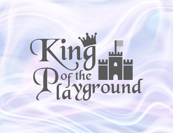 Toddler Boy SVG Little Boy Swag King Playground Clipart Crown Castle Print Clothes