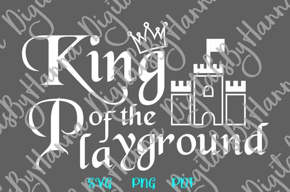 Toddler Boy SVG Little Boy Swag Saying King Playground Clipart Crown Castle