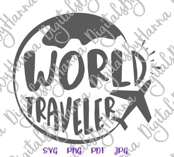 Wanderlust SVG File World Traveler Travel Tee tShirt Globe Plane