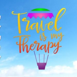 Wanderlust SVG File for Cricut Saying Travel is My Therapy