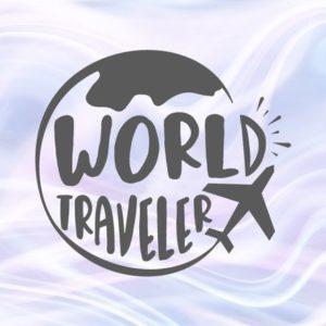 Wanderlust SVG World Traveler Travel Lettering Word Tee tShirt Globe Plane Clipart