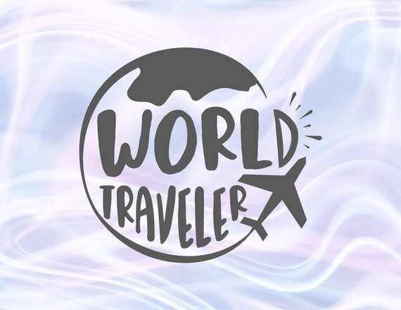 Wanderlust Svg World Traveler Travel Lettering Word Tee