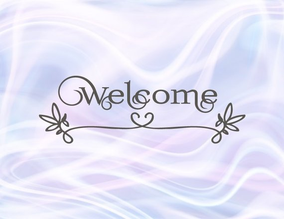 Welcome SVG Wedding Sign Front Door Mat Sign Clligraphy Hand Lettering Laser Cut