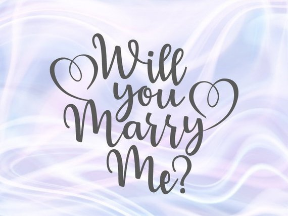 Will You Marry Me SVG Marriage Proposal Hand Lettering Wedding Calligraphy Heart