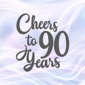 90th Birthday SVG Files for Cricut Saying Cheers to 90 Years Her Him Invitation