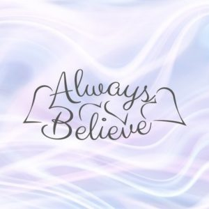 Always Believe SVG Sign Faith Lettering Encourage Tee t-Shirt Word Print Clipart