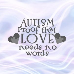 Autism SVG Awareness Proof that Love Need No Word Puzzle Heart