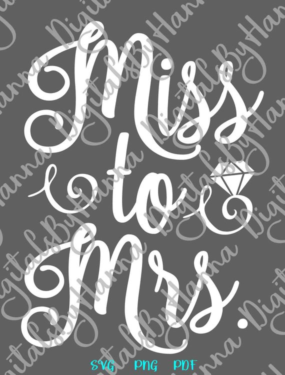 Bachelorette SVG Miss Mrs Word Clipart Wedding Bridal Shower Wine Glass