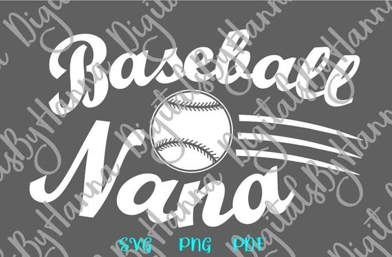 Baseball SVG Nana Grandma Sport Player Proud Family Ball Shirt Sign Word