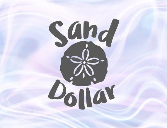Beach SVG Files for Cricut Sand Dollar Clip Art Sea Summer Ocean Animal Sign