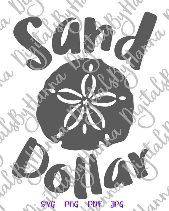 Beach SVG Sand Dollar Clipart Summer Sign T Shirt Tee Print Laser Cut
